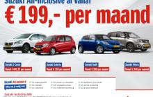 Suzuki All-Inclusive al vanaf €199,- p/m
